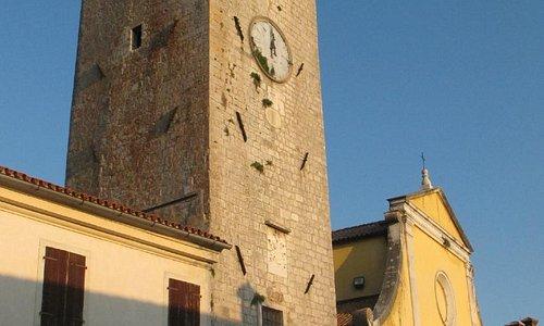 Tower & Church in the Square, Motovun, Croatia