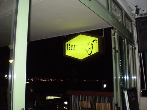 Just Look for This Sign above The Harp Bar