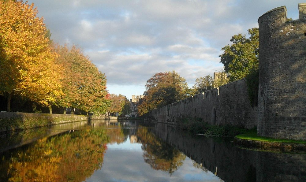 Beautiful autumnal moat