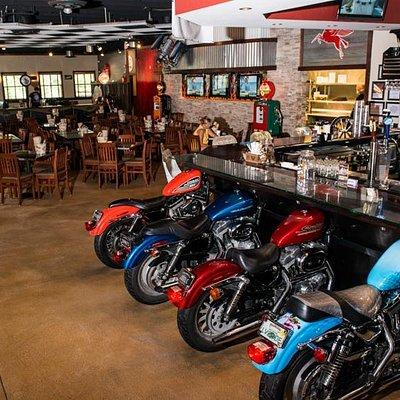 Harley Davidson motorcycle bar stools