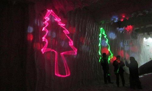 snow dancing inside snow park