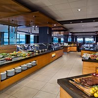 The buffet and live action stations offer a variety sure to please all diners