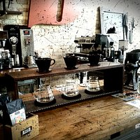 Awesome coffee counter at Drip Drop drink!