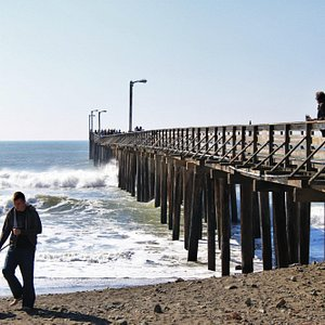 Pier view from the beach