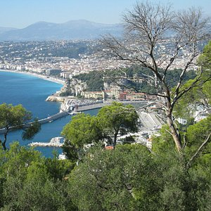 Mont Boron - view over Nice's roofs