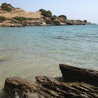 Prima parte della spiaggia