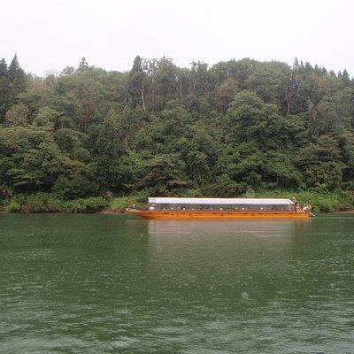 屋形船で川下り