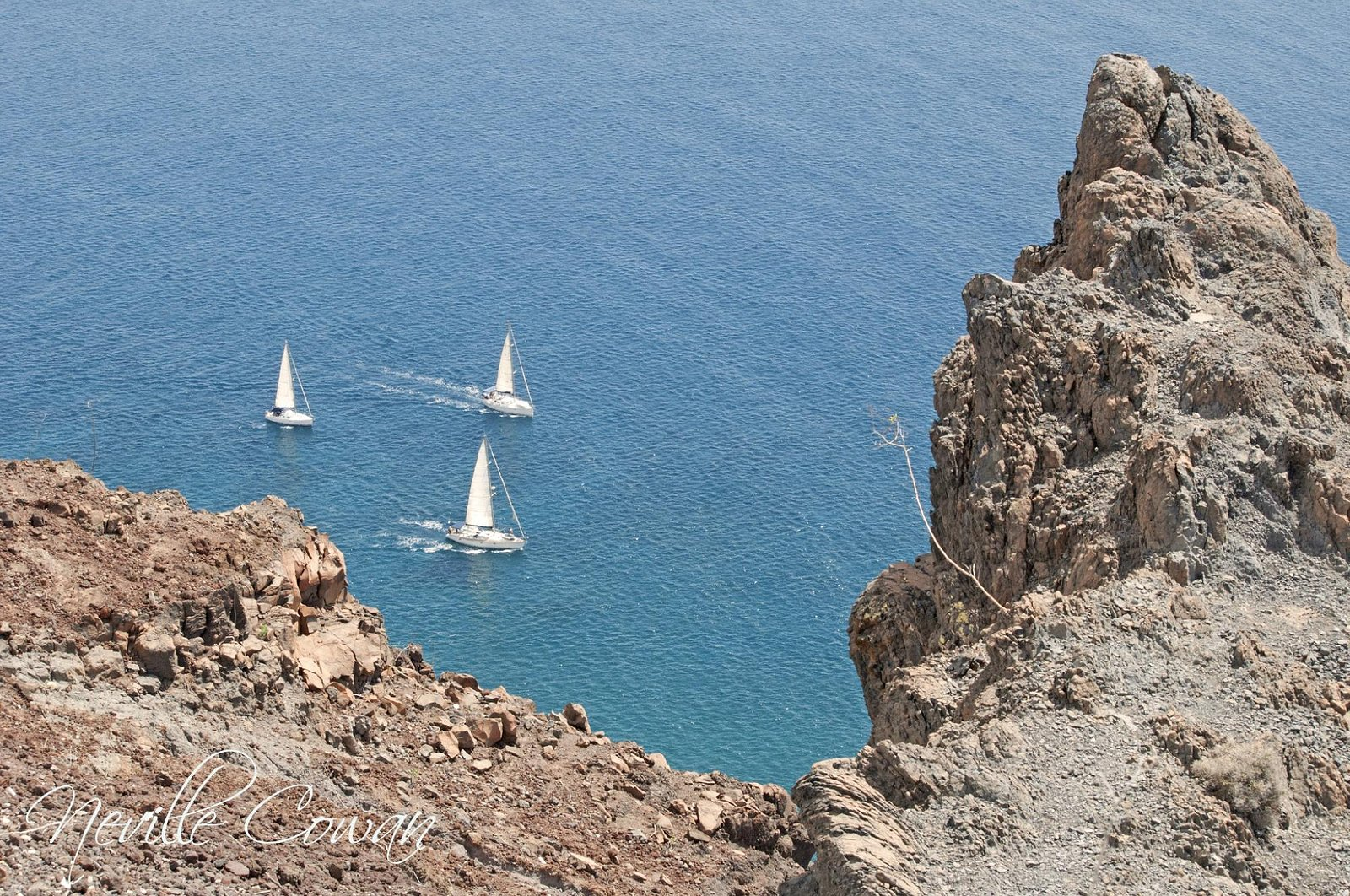 A view down from Faro de la Entallada
