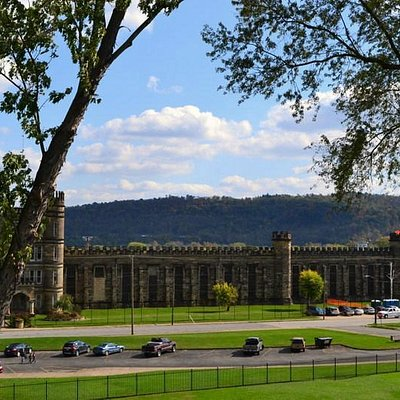 moundsville prison from the top of the mound