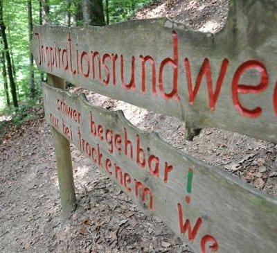 der Inspirationsweg, besser Kletterpfad - COOOL!