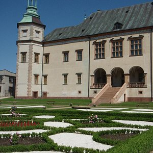 The palace with the garden