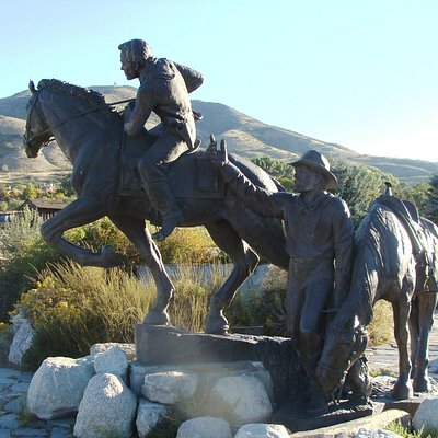 The Pony Express Monument statue.