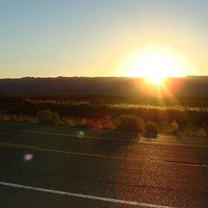 Last moments of Sunrise on Vermillion Scenic Drive