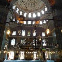 Interior of the Yeni mosque