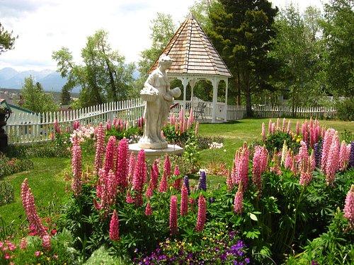 Formal gardens in the summer