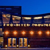 The facade of Two River Theater