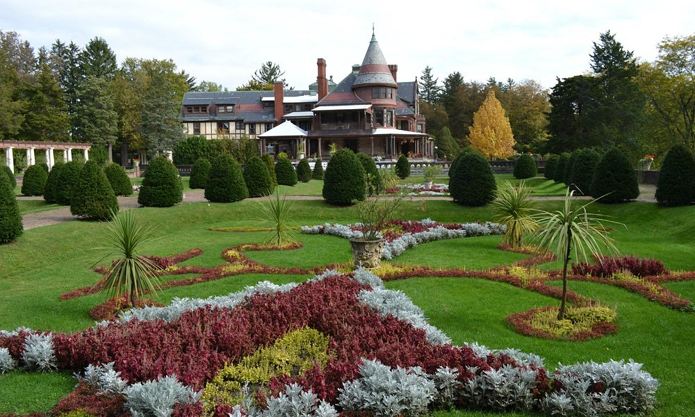 View of Mansion and Main Gardens