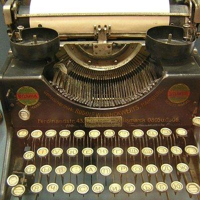 Schreibmaschine im Museum