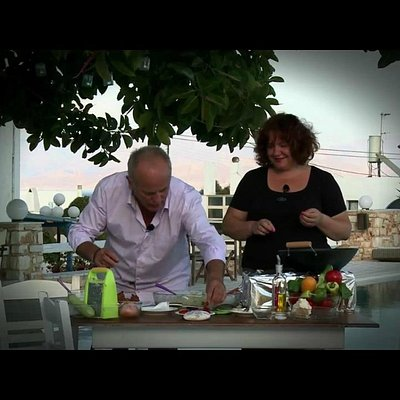 Stella is cooking with Teo Vafidis ...for Pollish TV !