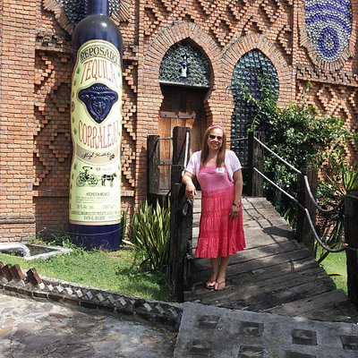 My beautiful girl at the entrance of the hacienda.