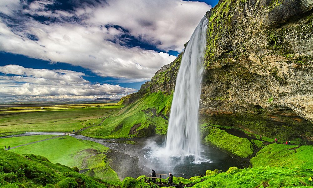 Seljalandsfoss Water fall in Southern Iceland