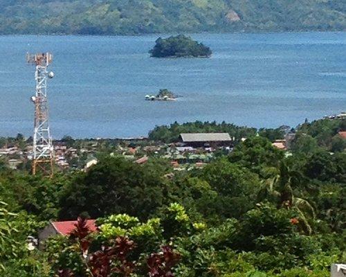 The smaller island..