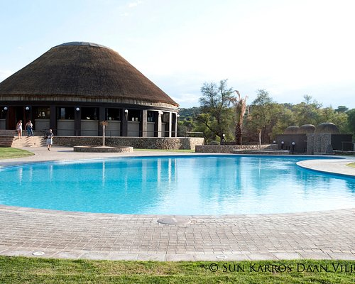External view of the Boma Restaurant and Pool