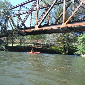 First bridge to go under!