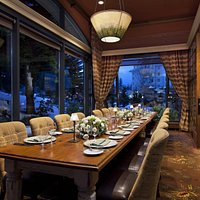 The Grill Room's Private Dining Room, accomodates 18 people