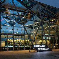Marina Bay City Gallery at night