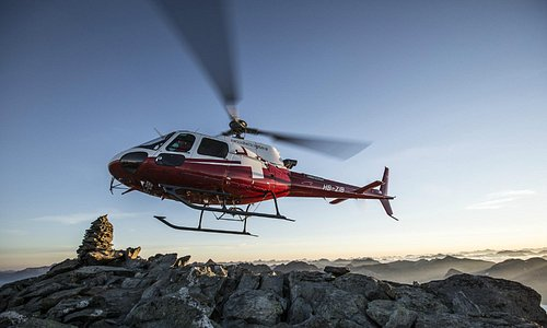 Swiss Helicopter B3 in the mountains