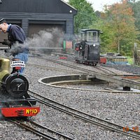 Engine in steam for driver traing