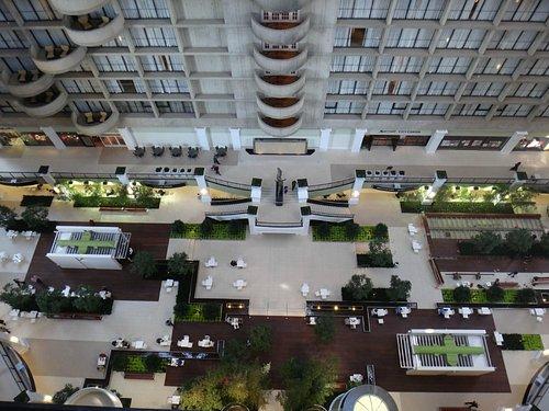 A view of the atrium