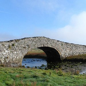 Ancient bridge over the River Ffraw