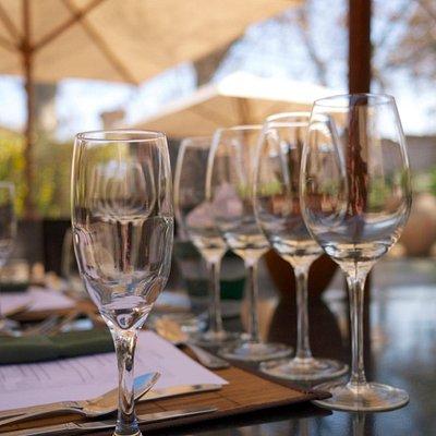Wine glasses at La Garde