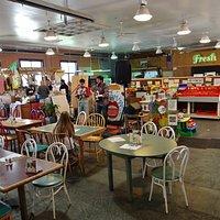 Cafe seating & Bluegrass Brunch