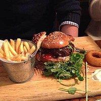 Venison burger at The Vobster Inn