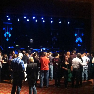 The stage and venue at Buckhead Theater