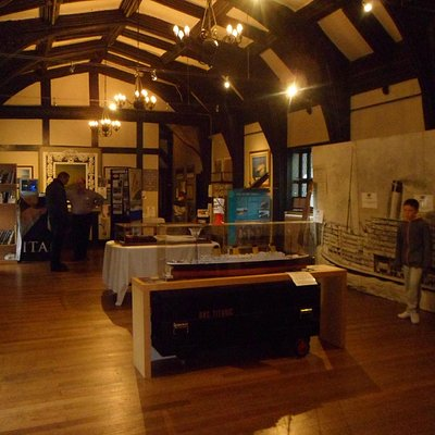 One of the three exhibition rooms that make up the Lancashire Titanic Museum.