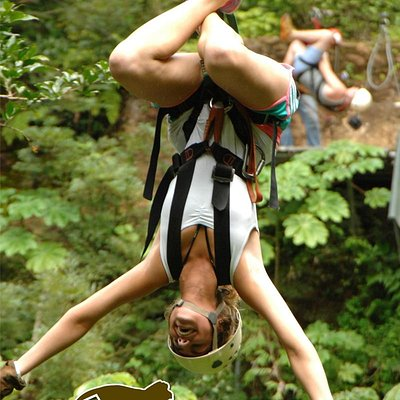 Zipline upside down! If you want to give it a try, go ahead!