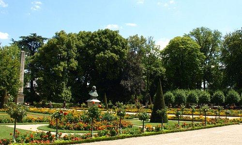 きれいに整備された庭園