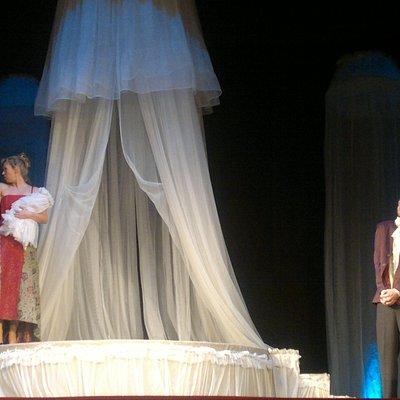 """Спектакль """"Женишки"""" по Н.В.Гоголю. М.Сельчихина, С.Шарагин, С.Молодцов."""