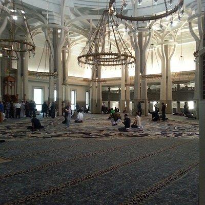Serene interior of the mosque