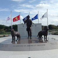 The U.S. Military Working Dogs Monument