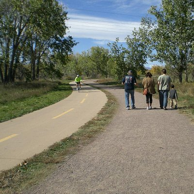 Separate paths for the bikers and walkers