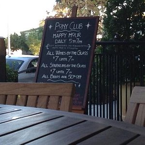 happy hour at the Pony Club Hotel Chival