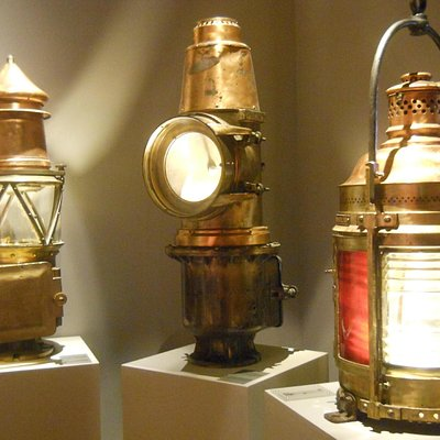 some antique lighthouse parts