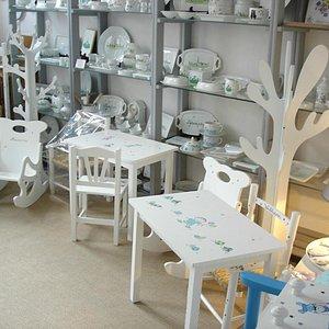 Boutique - Tables et chaises