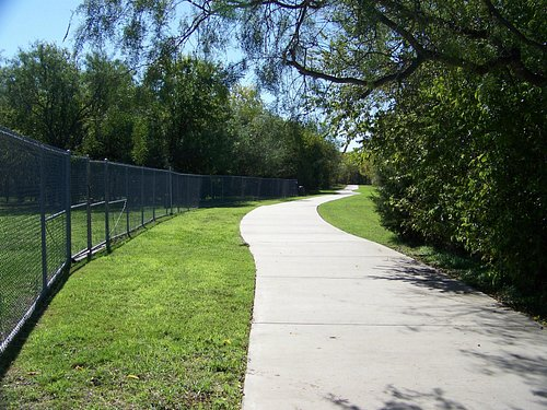 Hike/Bike Path to Cravens field - - Tails and Trails dog park