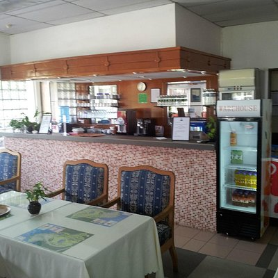Nice cafe in the clubhouse